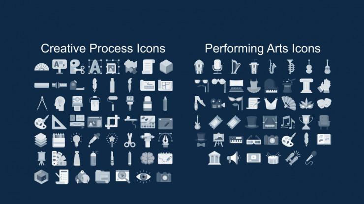 Plantilla de presentación Diapositivas con doodles para reuniones