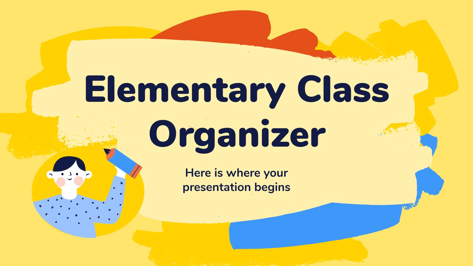 Elementary Class Organizer presentation template
