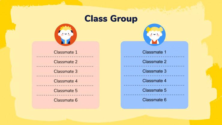 Plantilla de presentación Organizador para primaria