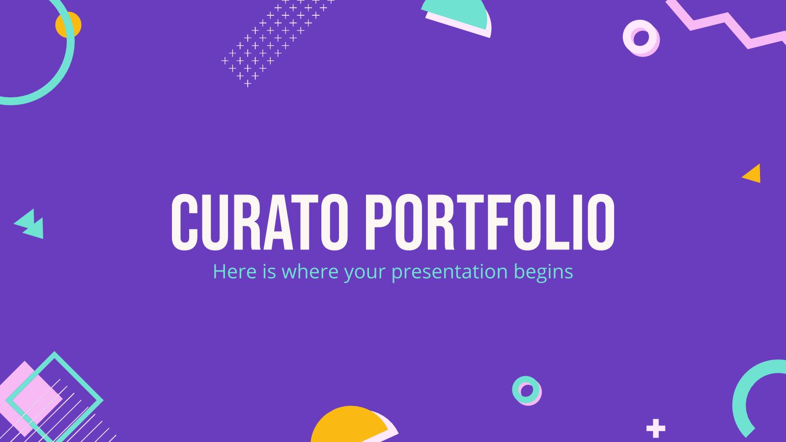 Plantilla de presentación Portafolio Curato