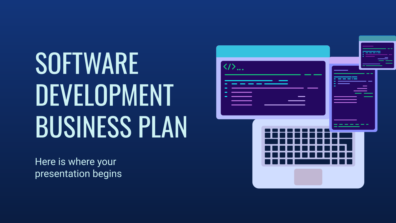 Software Development Business Plan presentation template