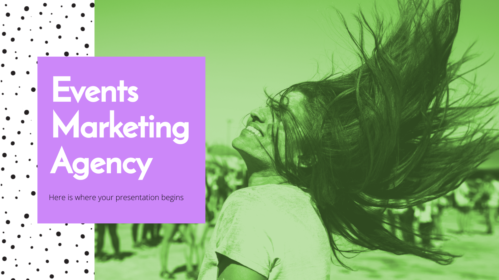Events Marketing Agency presentation template