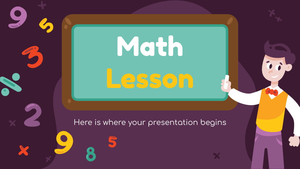 Funny Math Lesson presentation template