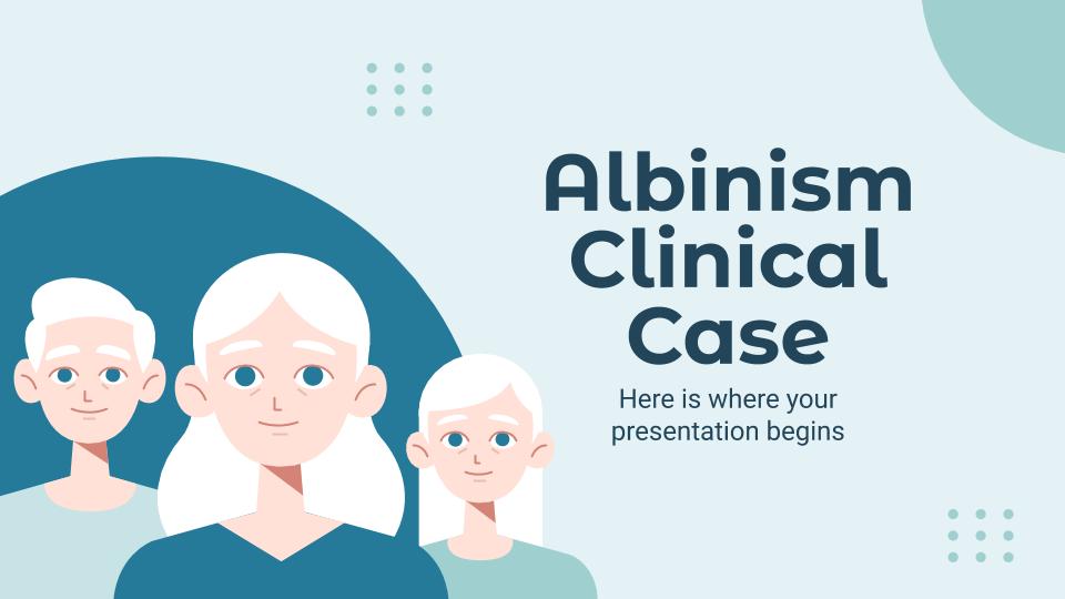 Cas clinique d'albinisme : Modèles de présentation
