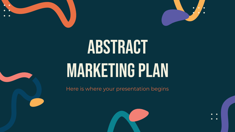 Abstract Marketing Plan presentation template
