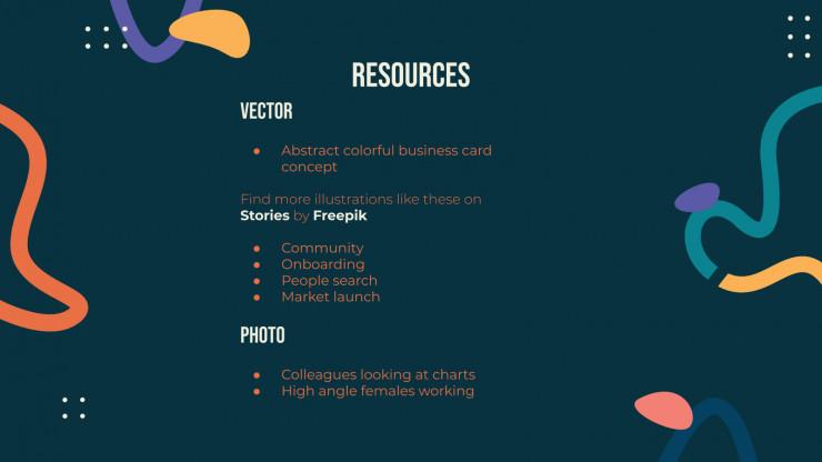 Modelo de apresentação Plano de marketing abstrato