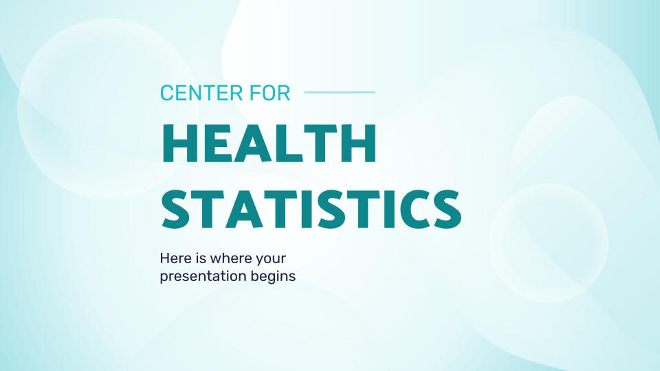 Center for Health Statistics presentation template