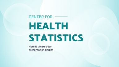 Center for Health Statistics presentation template
