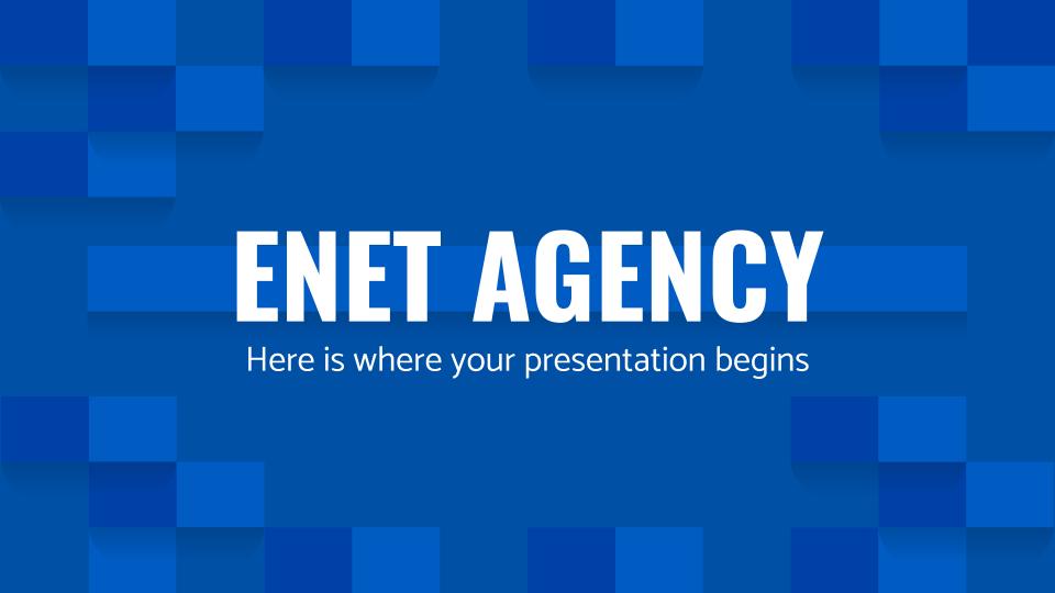 Modelo de apresentação Agência Enet