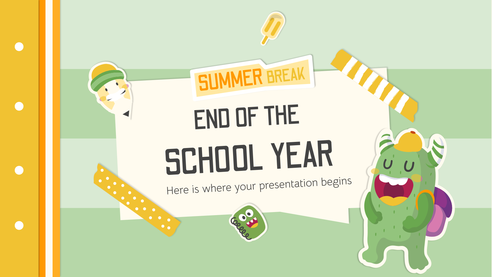 End of the School Year: Summer Break presentation template