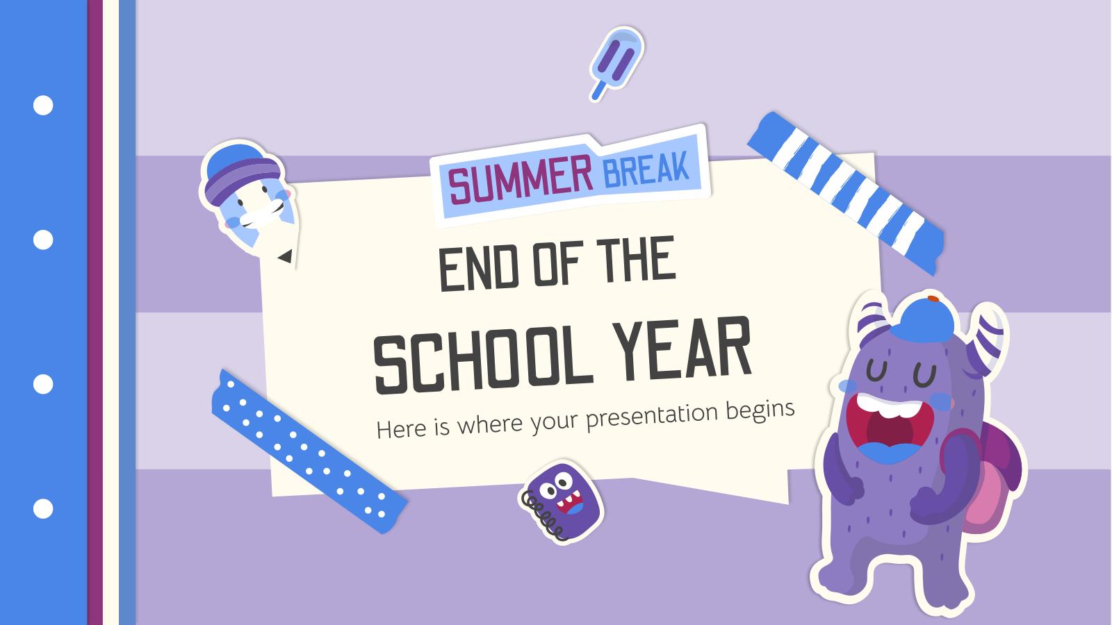 Modelo de apresentação Fim do ano letivo: férias de verão
