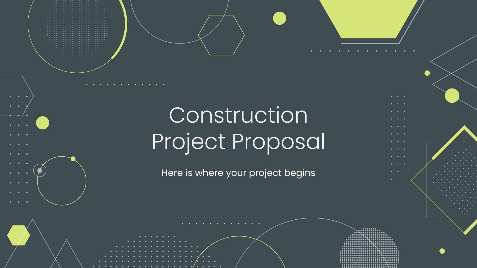 Modelo de apresentação Proposta de obra