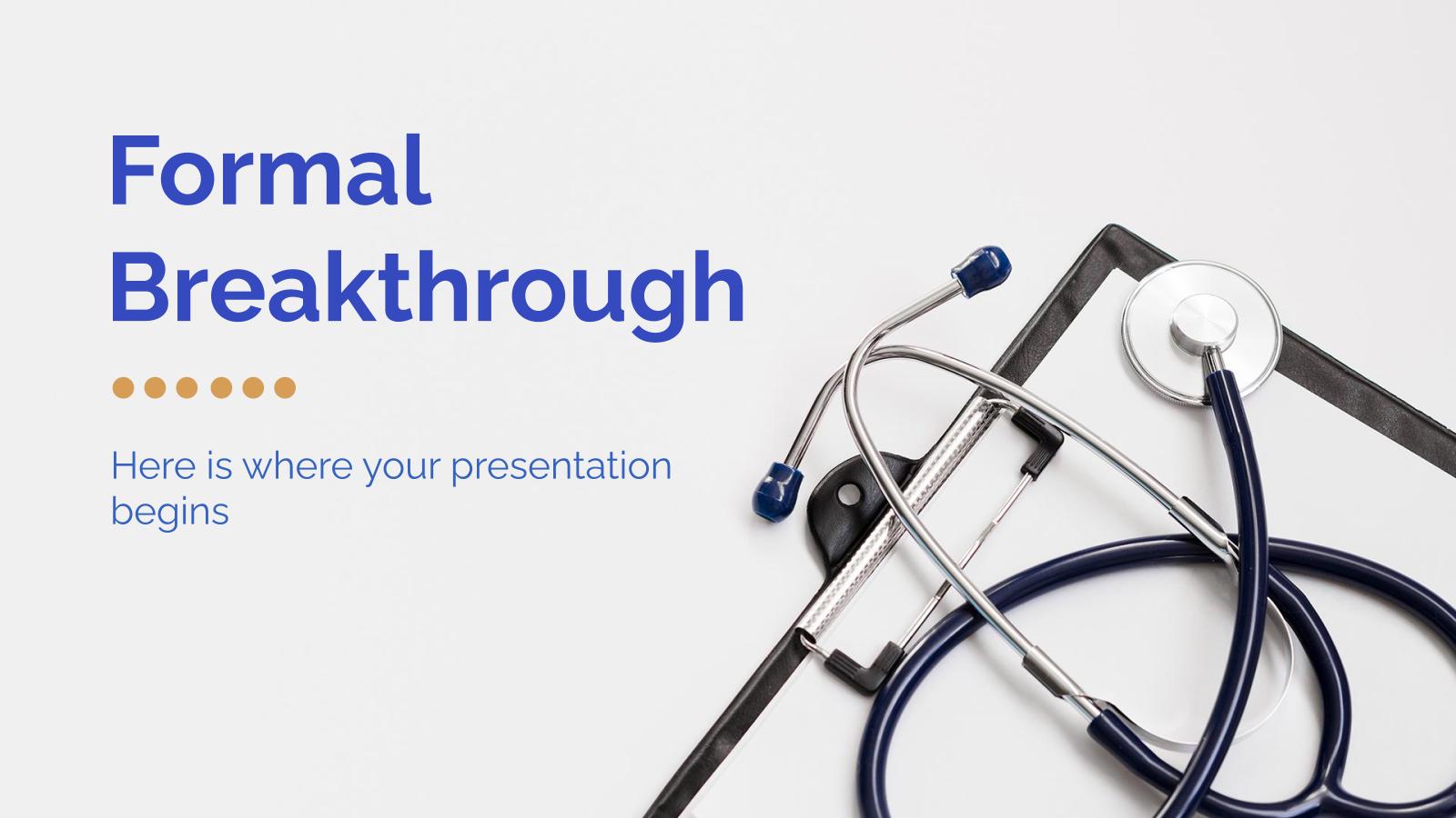 Plantilla de presentación Diseño formal para avances médicos