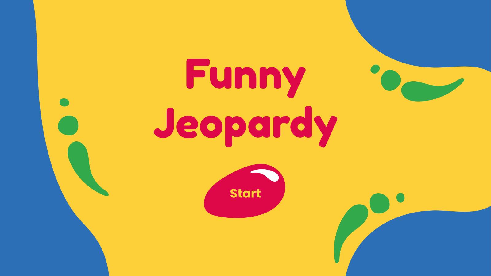 Funny Jeopardy presentation template