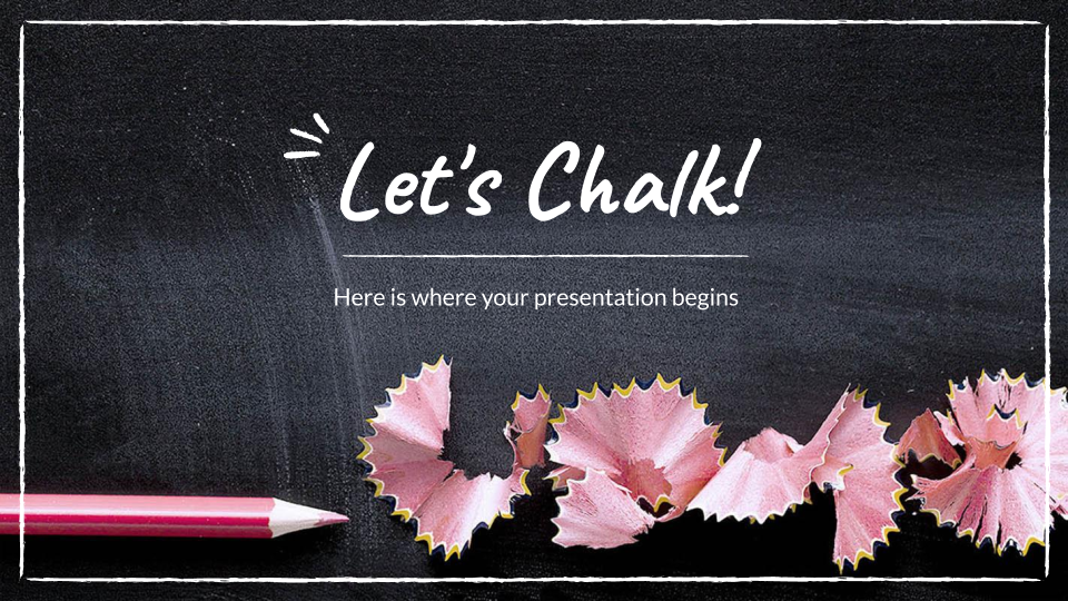 Let's Chalk! presentation template