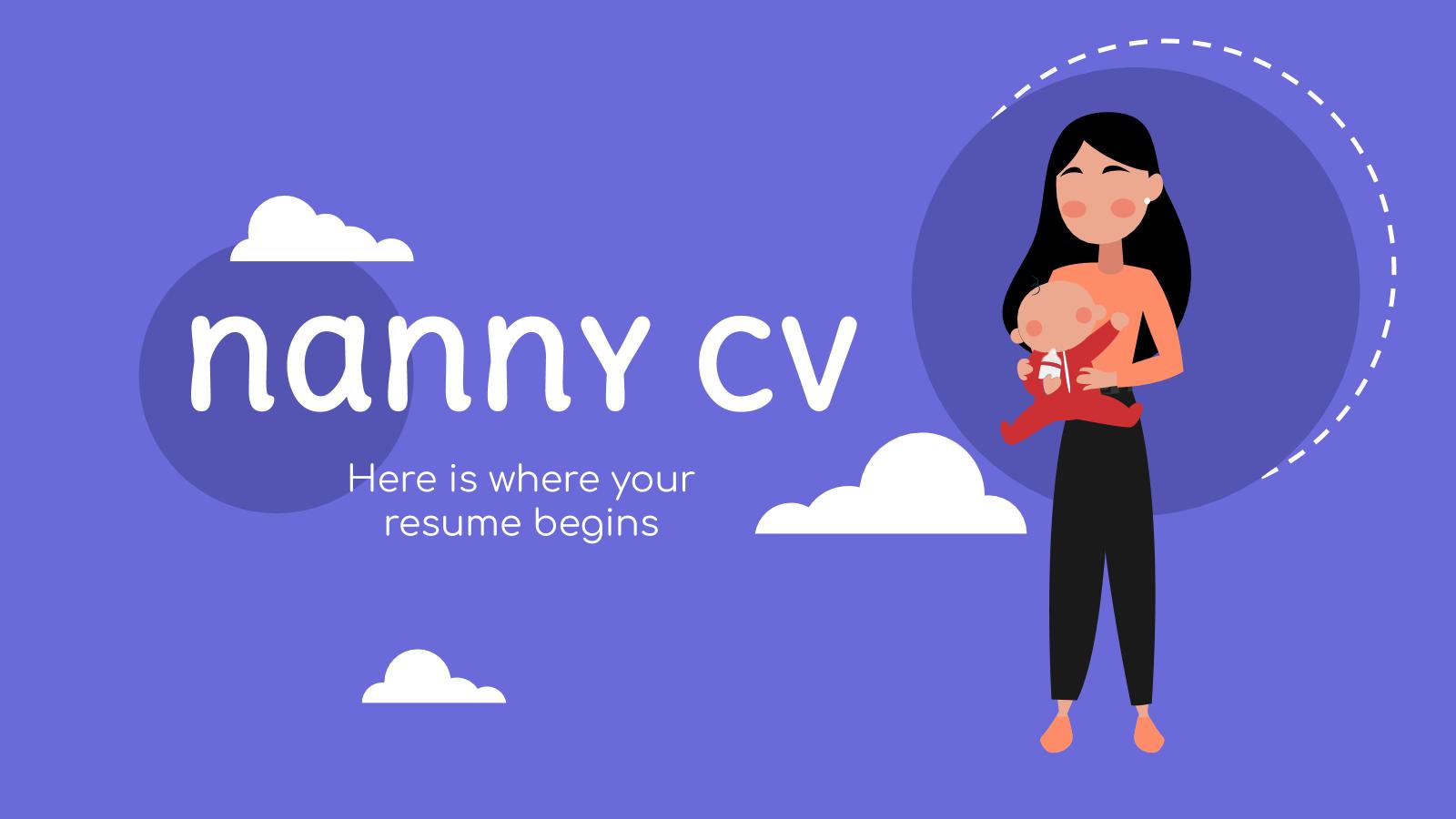 Nanny CV presentation template