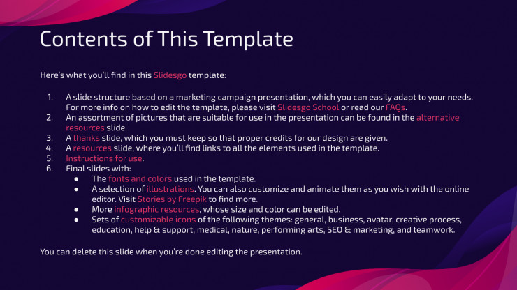 Email Campaign presentation template