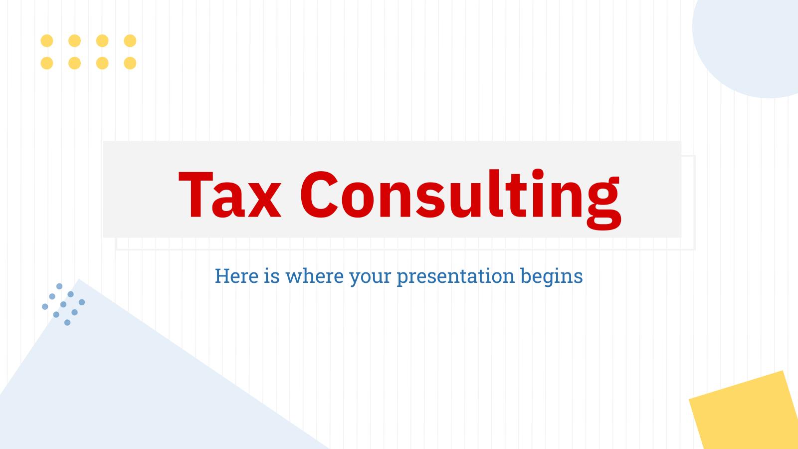 Plantilla de presentación Consultoría tributaria