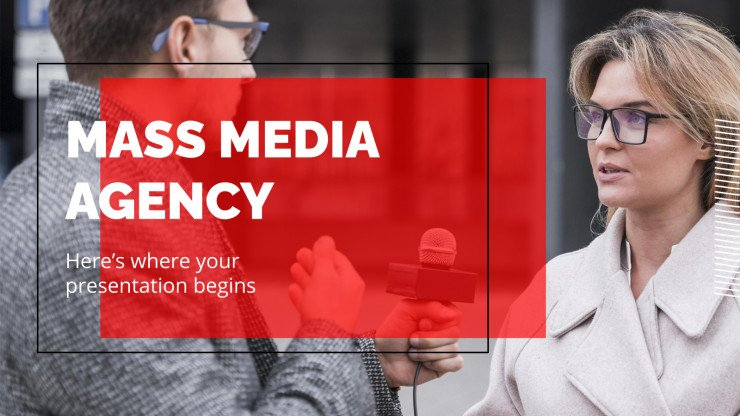 Mass Media Agency presentation template