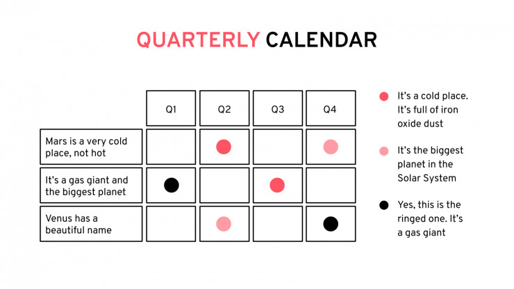 Yearly Planner presentation template