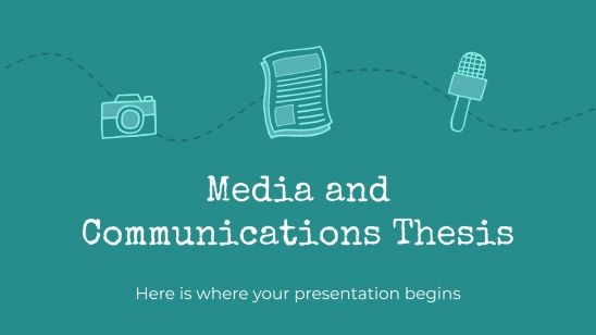 Media and Communications Thesis presentation template