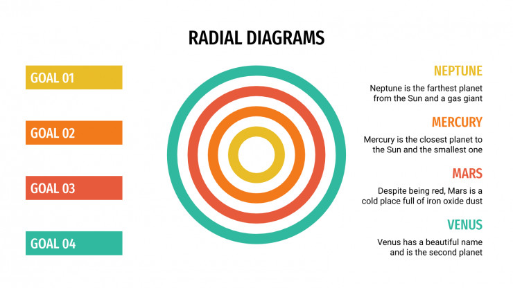 Radial Diagrams presentation template