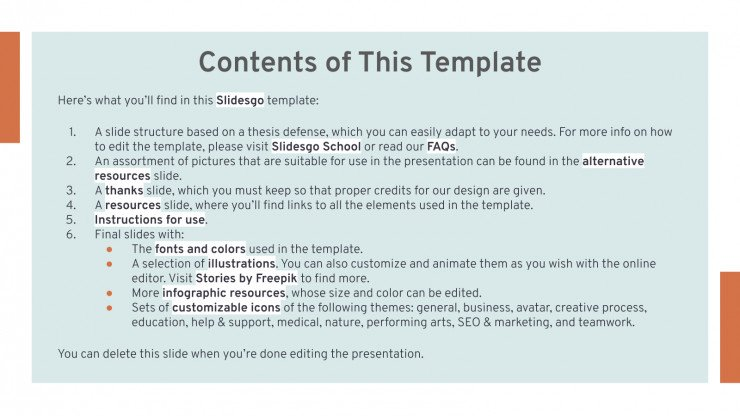 Classroom Management Thesis presentation template