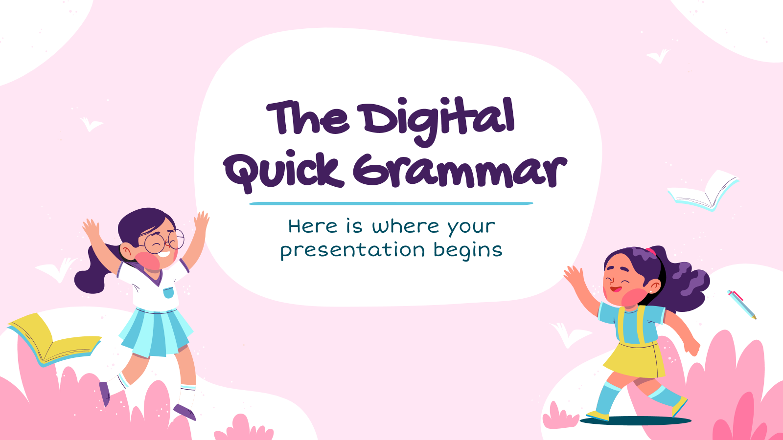 The Digital Quick Grammar presentation template