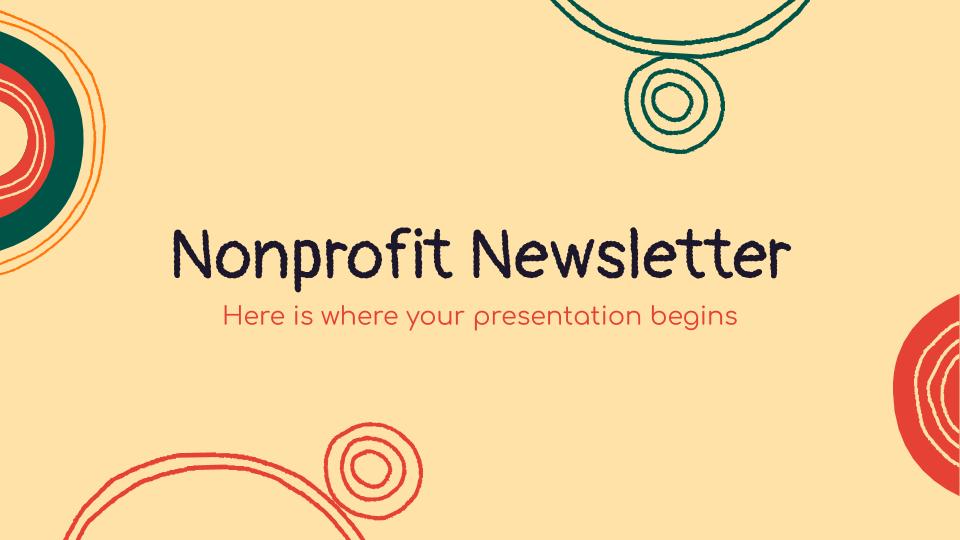 Nonprofit Newsletter presentation template