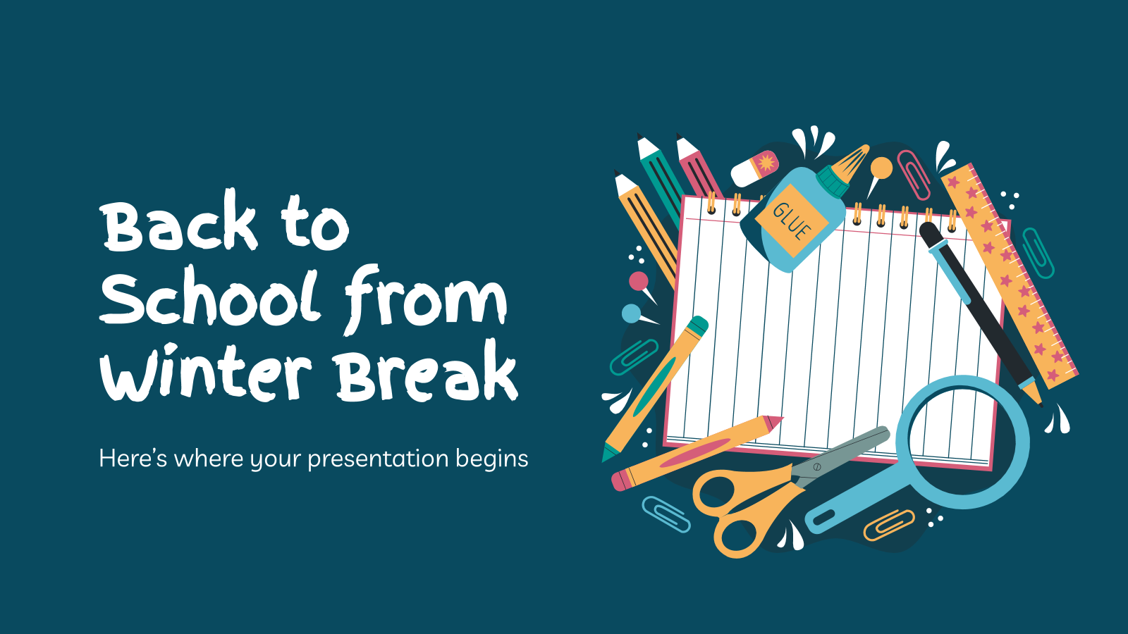 Back to School from Winter Break presentation template