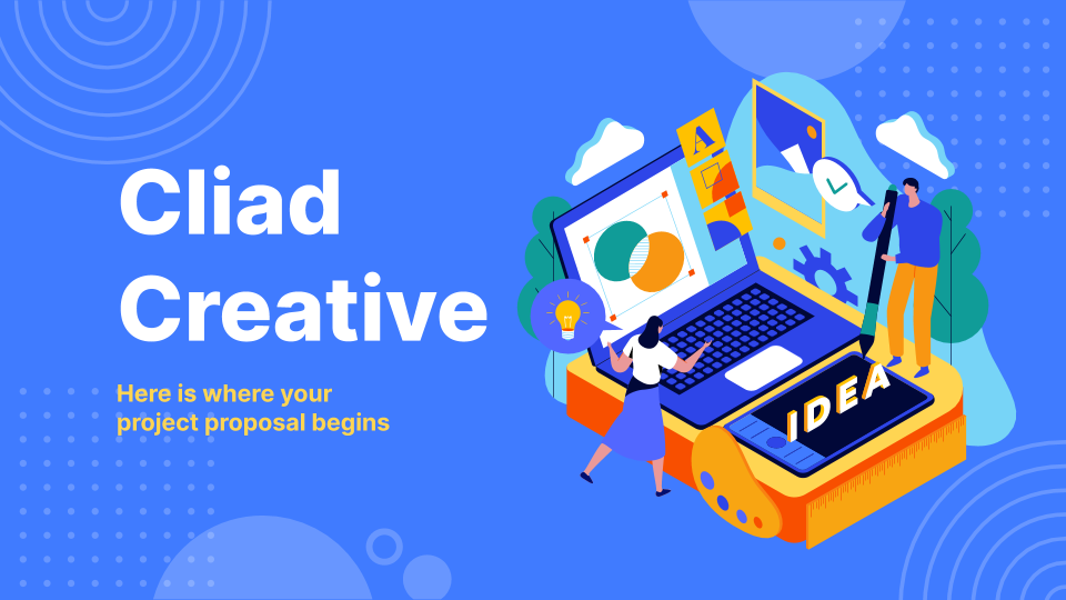Cliad Creative Project Proposal presentation template