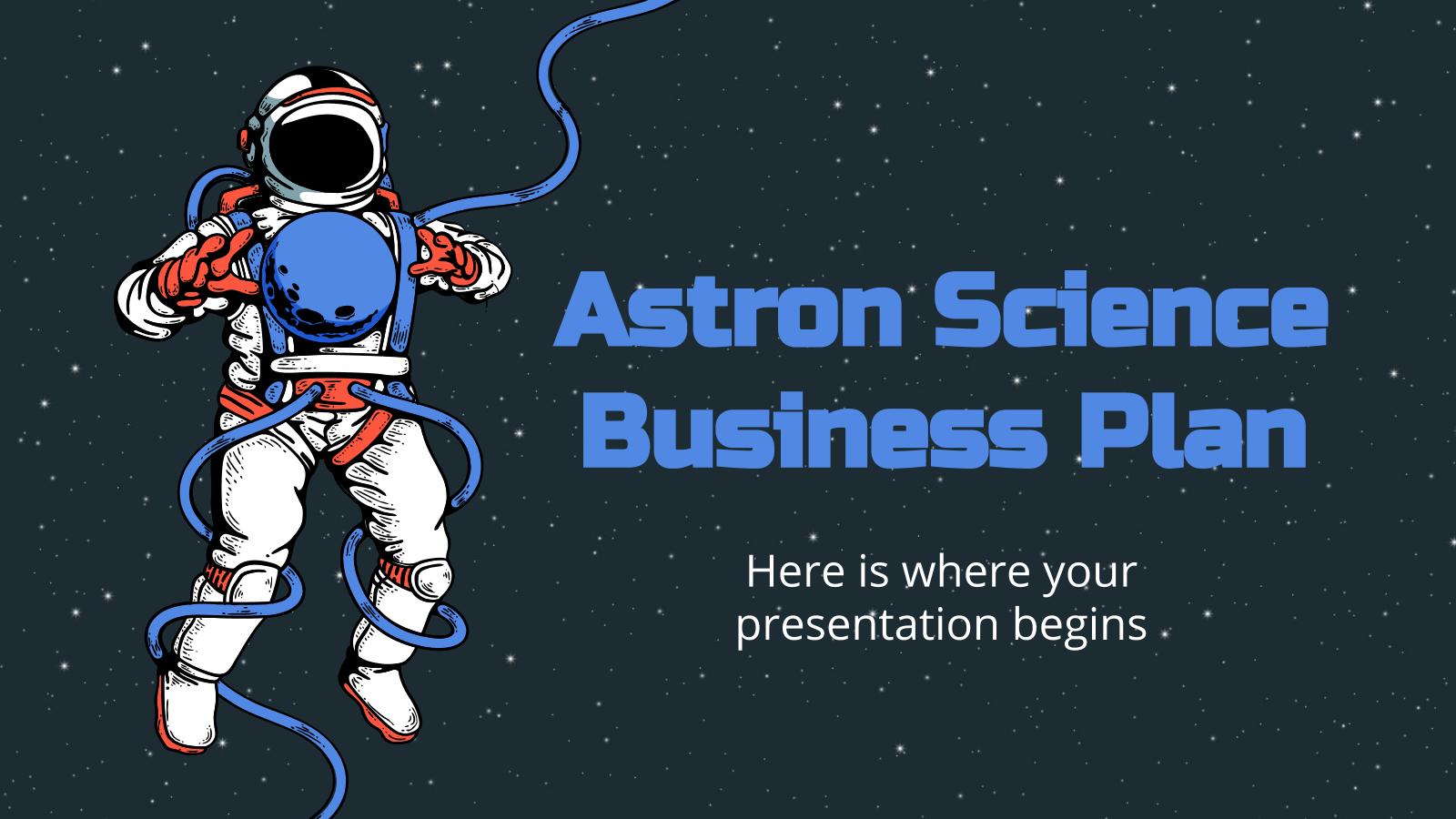 Business plan pour la science Astron : Modèles de présentation