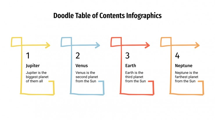 Doodle Table of Contents Infographics presentation template