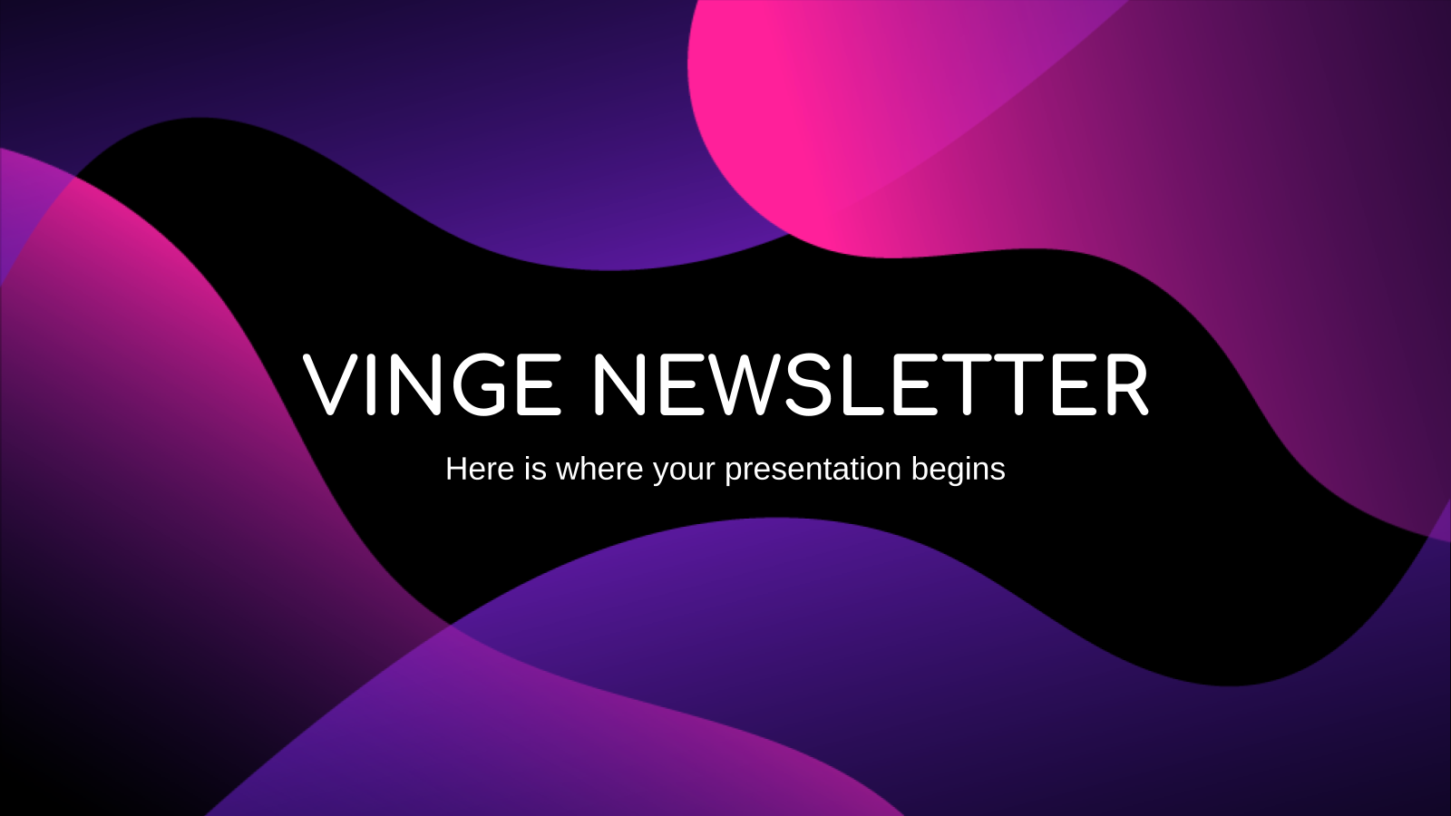 Vinge Newsletter presentation template