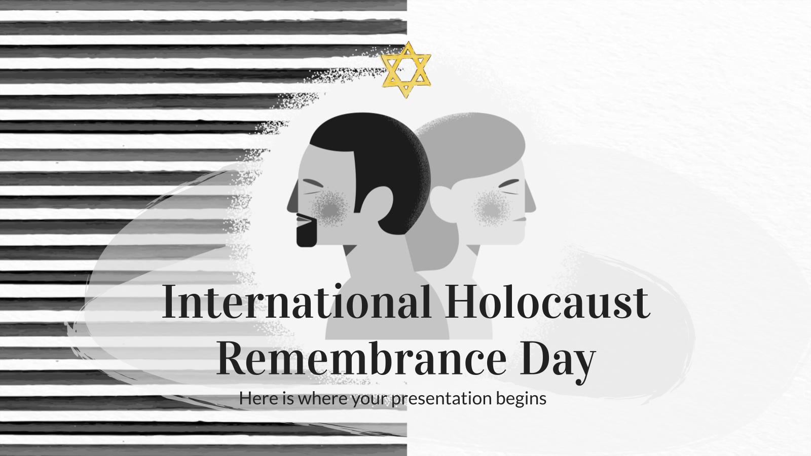 Modelo de apresentação Dia Internacional da Lembrança do Holocausto