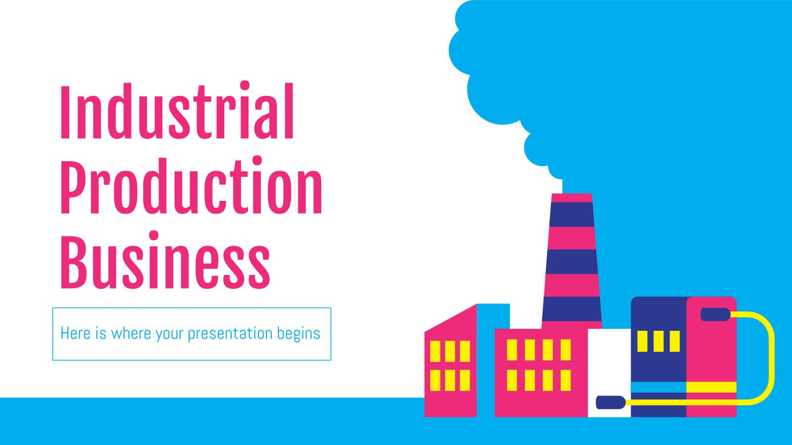 Plantilla de presentación Plan para producción industrial