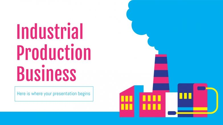 Industrial Production Business Plan presentation template