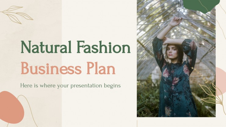Businessplan Naturmode Präsentationsvorlage