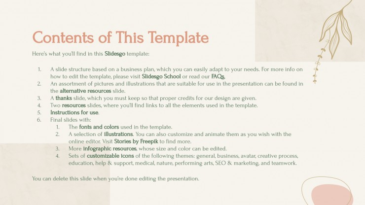 Natural Fashion Business Plan presentation template