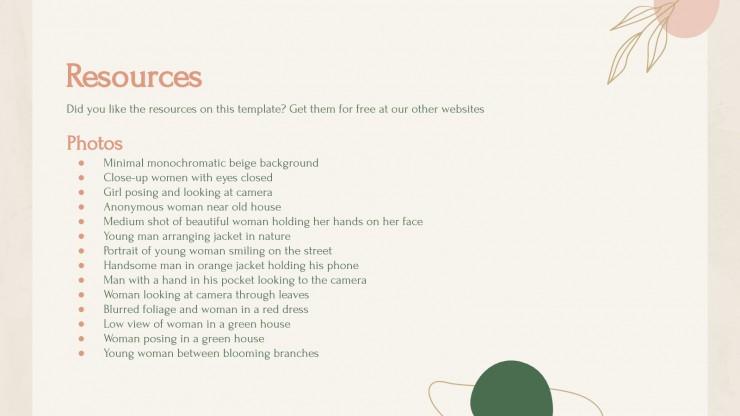 Plan d'entreprise pour la mode nature : Modèles de présentation
