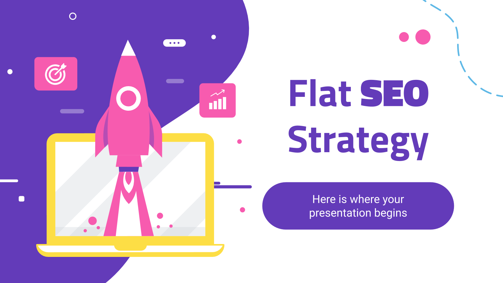 Flat SEO Strategy presentation template