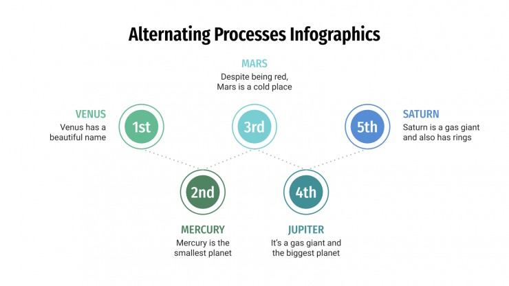 Alternating Process Infographics presentation template