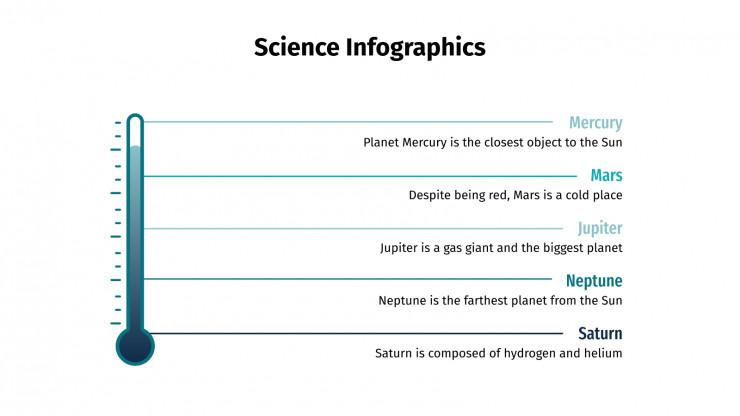 Plantilla de presentación Infografías de ciencia