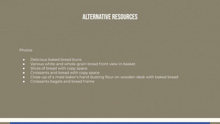 Boulangerie locale : Modèles de présentation