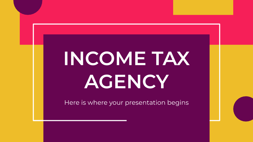 Income Tax Agency presentation template