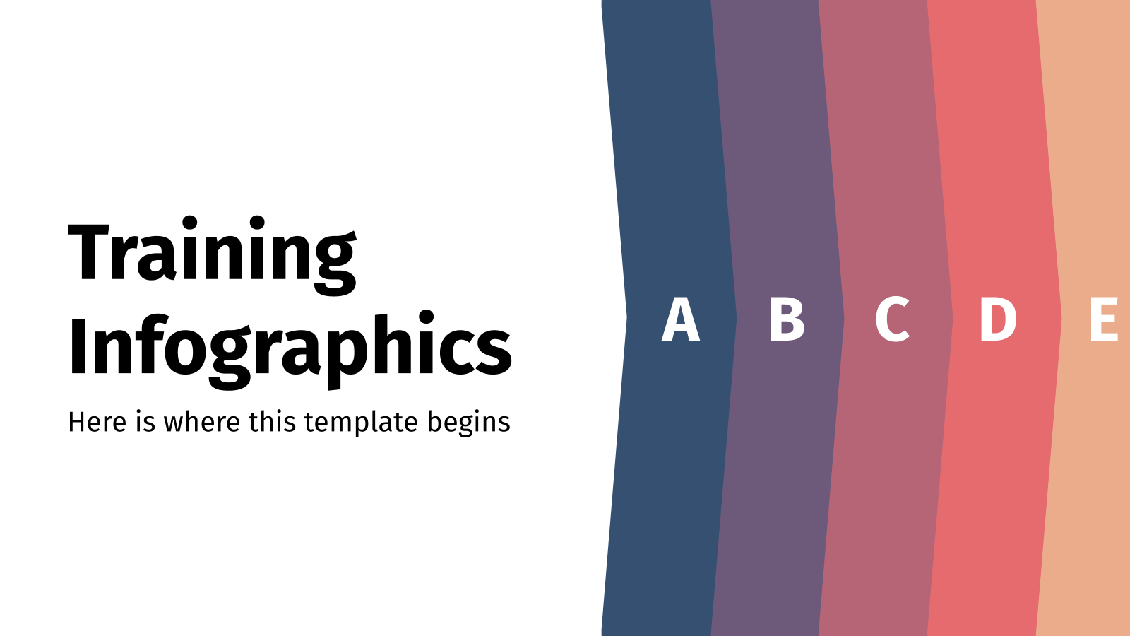 Training Infographics presentation template