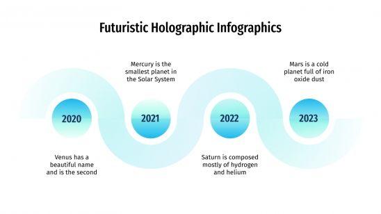 Futuristic Holographic Infographics presentation template