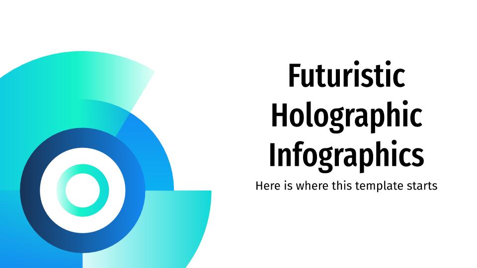 Plantilla de presentación Infografías holográficas futuristas