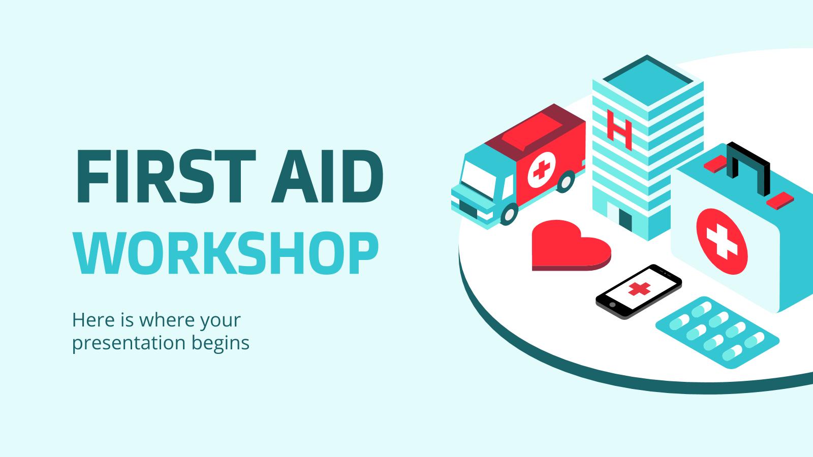 Atelier sur les premiers secours : Modèles de présentation