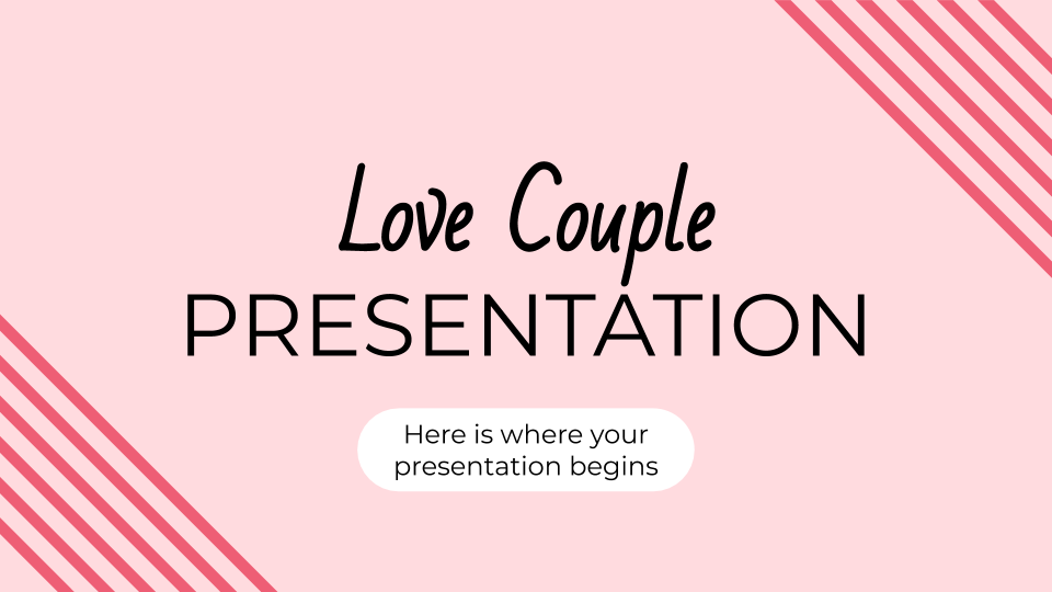 Love Couple presentation template
